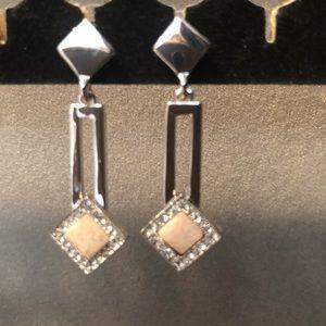 WHBM Silvertone Drop Earrings